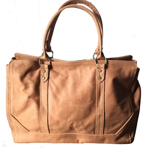 The Stretched Attache-Classy, classic and traditional leather tote.