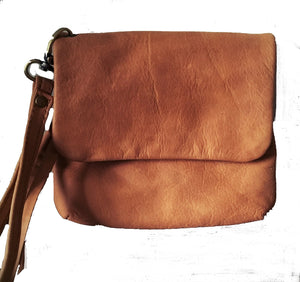 The Trio-Cute leather purse with zip pockets.
