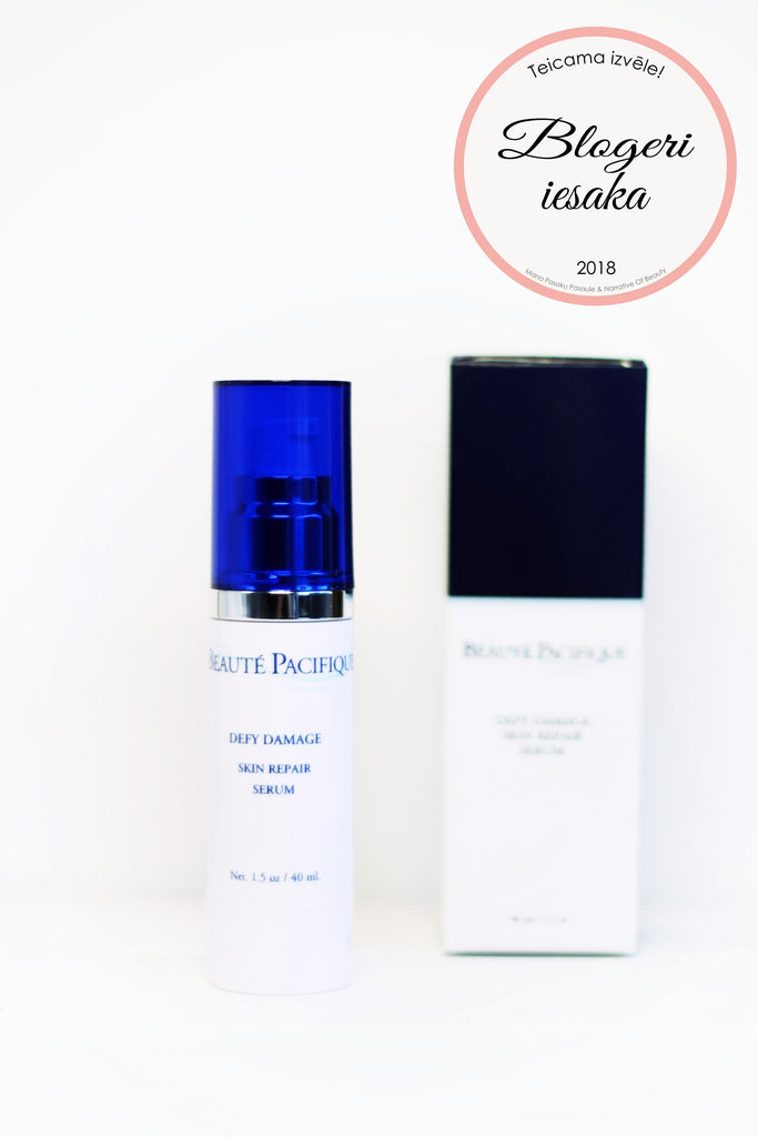 Blogeru TOP 2018 iekļūst Beaute Pacifique Super 3 Booster un Defy Damage Skin repair serums