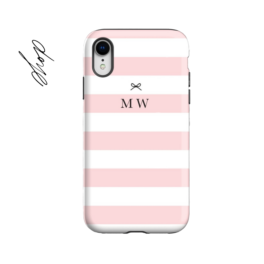 Personalised Phone Case | Blush Stripes - The Luxe Gift Co.
