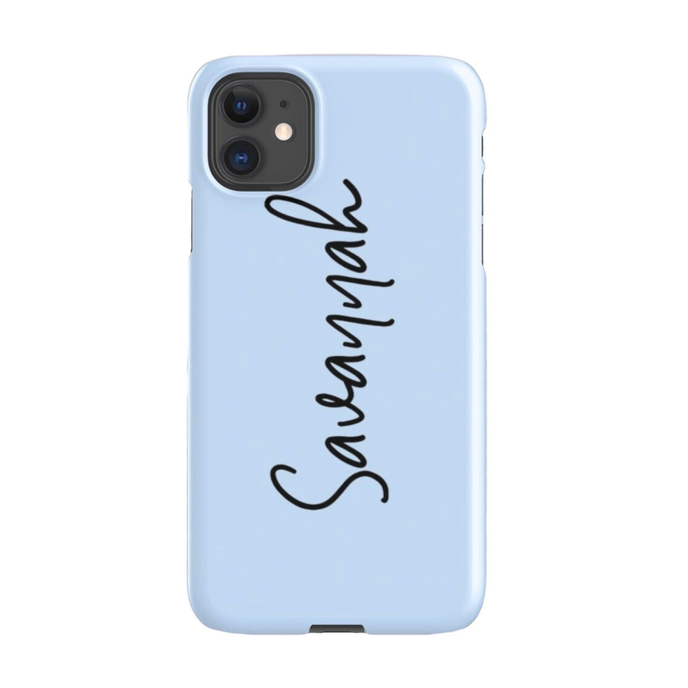 iPhone Case | Script Blue