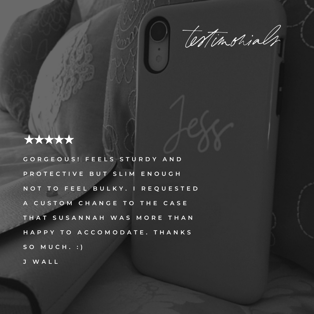 Personalised Phone Case | Taylor Made Pink - The Luxe Gift Co.