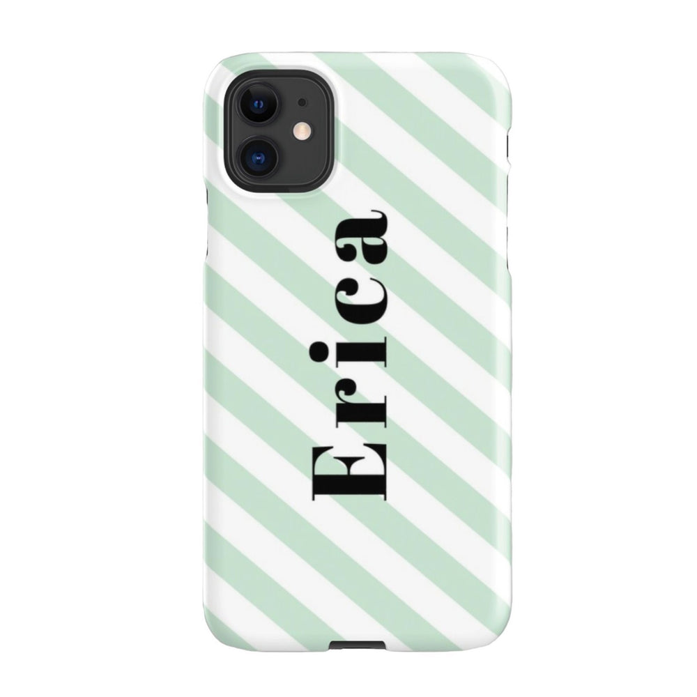 iPhone Case | Stripey Green