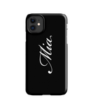 Personalised Phone Case | J'adore in Black