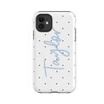 Personalised Phone Case | Do the Polka Blue - The Luxe Gift Co.