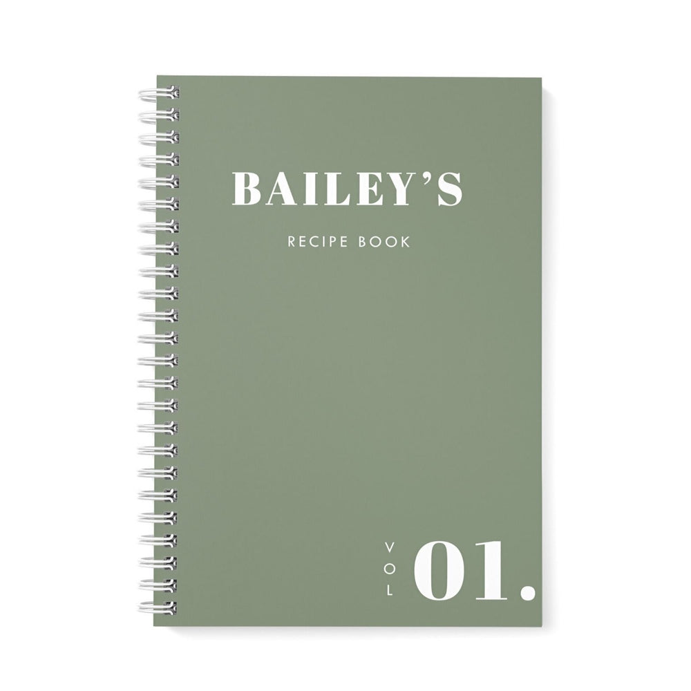 Recipe Book Personalised | Simple Khaki