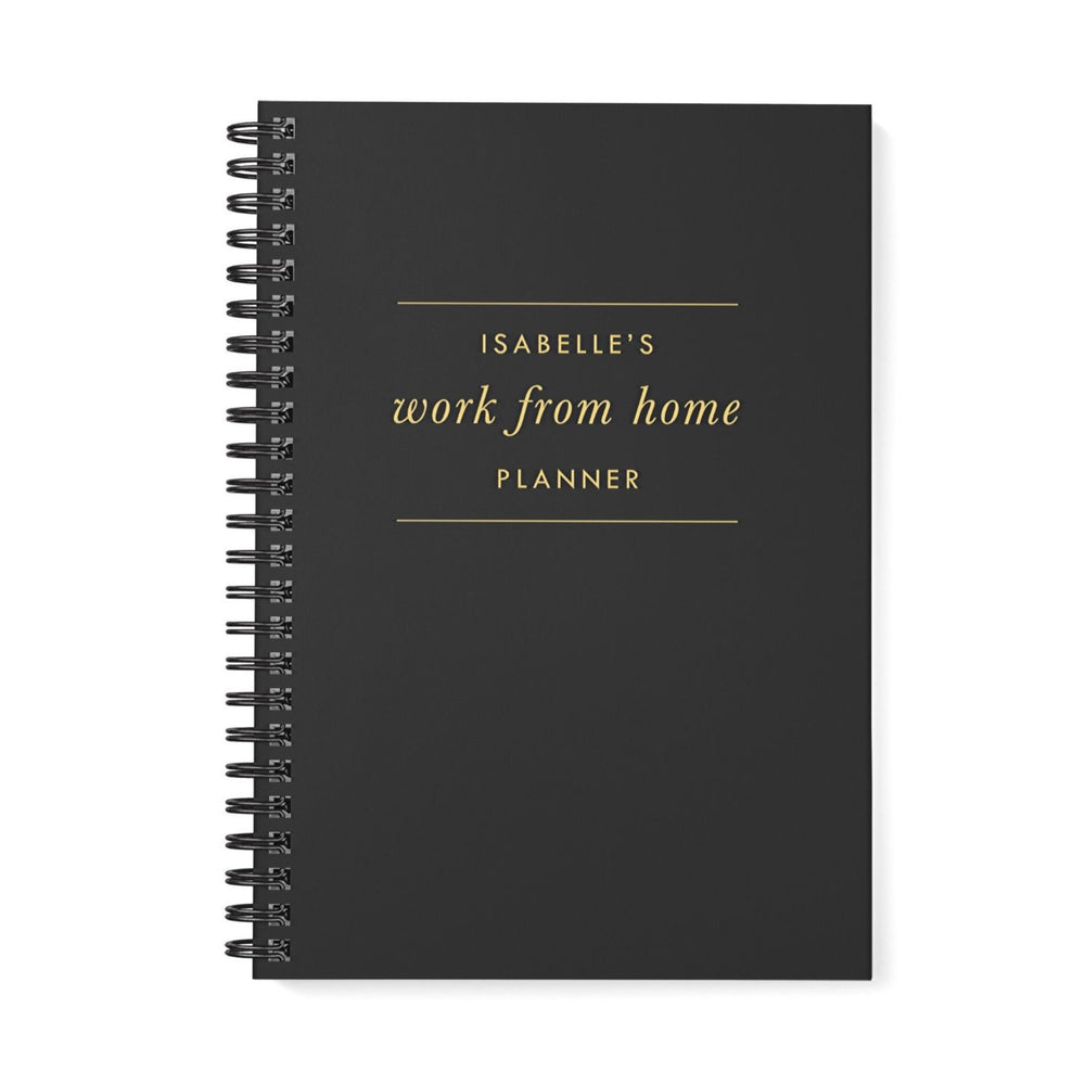 Work at Home Planner | Black