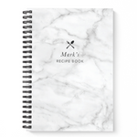 Blank Recipe Book Personalised | Marble