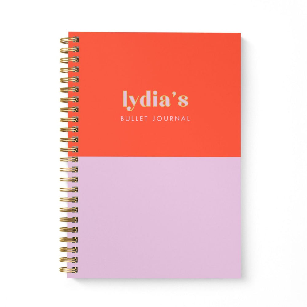 Bullet Journal A5 Notebook | Red Lilac Block