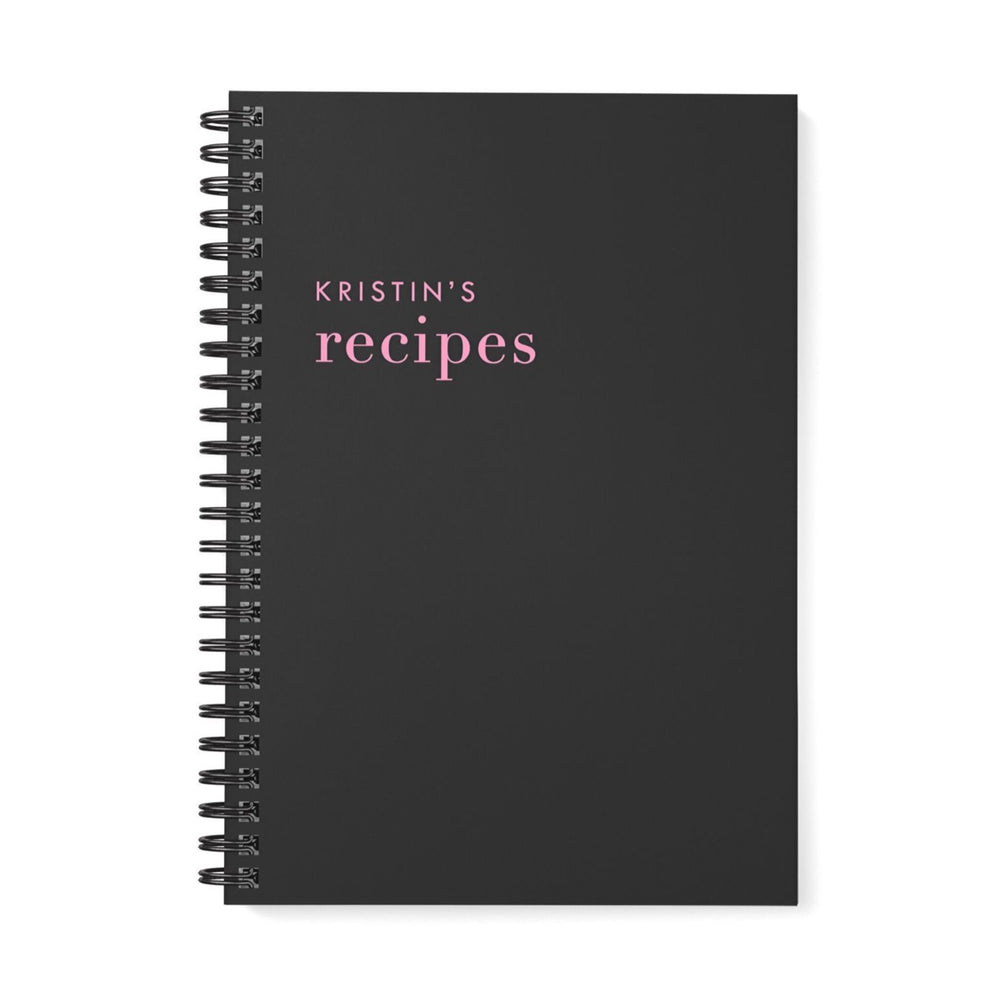 Recipe Book Personalised | Pink and Black