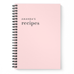 Blank Recipe Book Personalised | Classic Blush