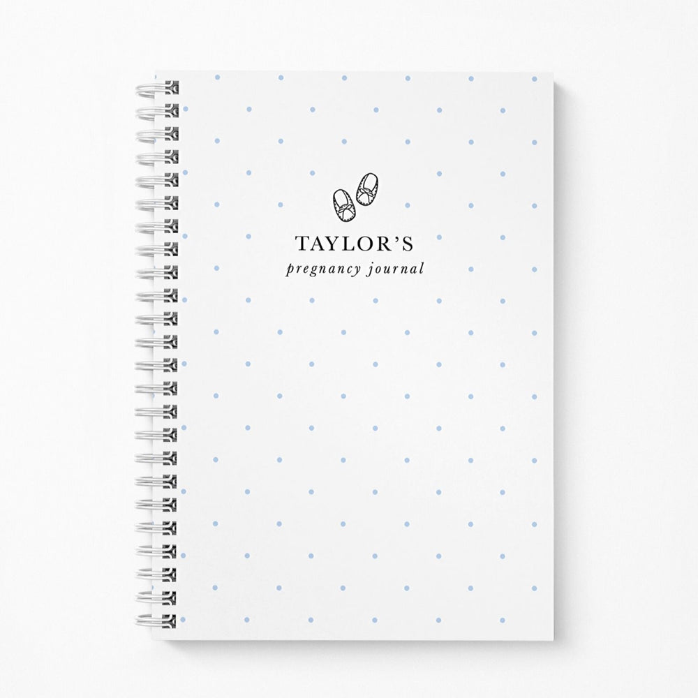 Pregnancy Notebook Personalised | Blue Spots