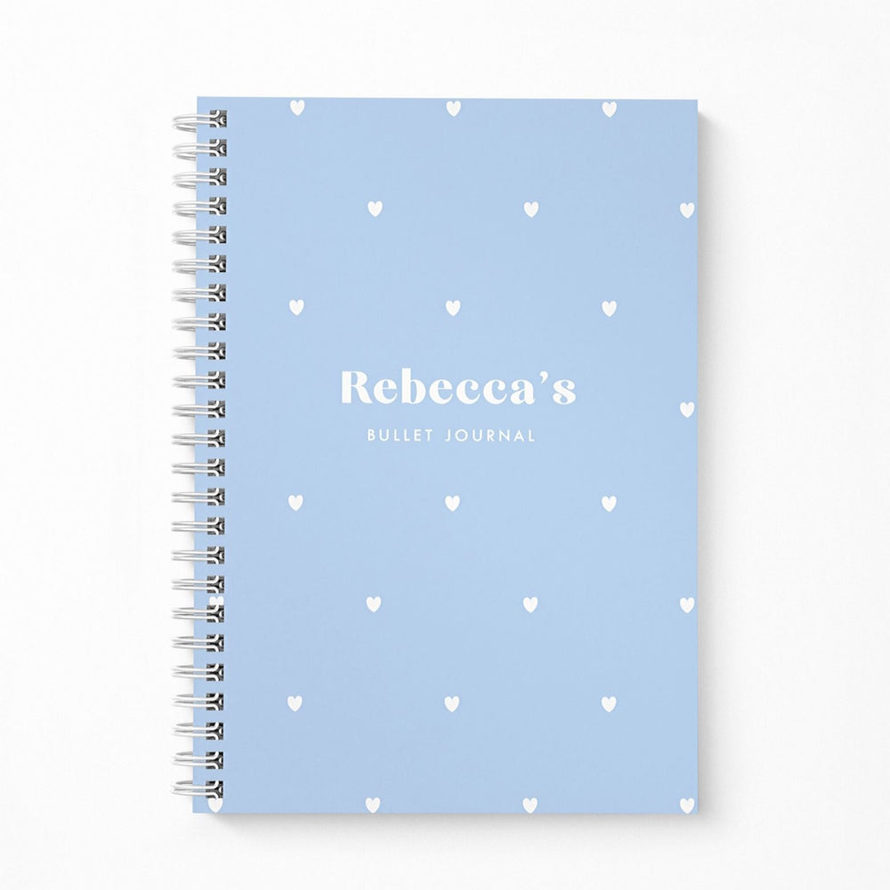 Bullet Journal A5 Notebook | Hearts Blue