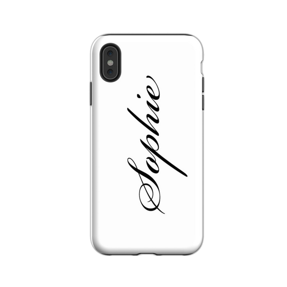 Personalised Phone Case | J'adore in White