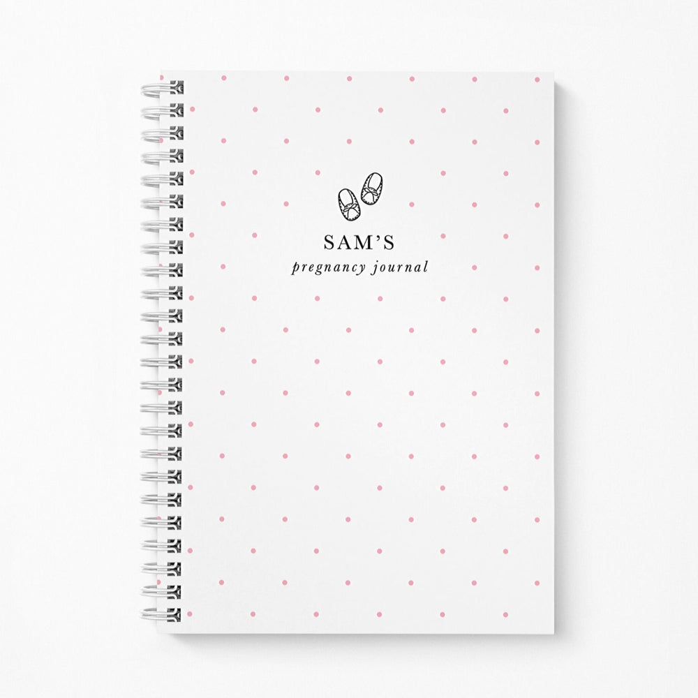Pregnancy Notebook Personalised | Pink Spots