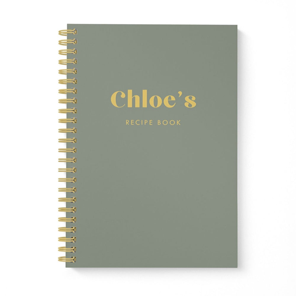Blank Recipe Book Personalised | Be Bold Khaki