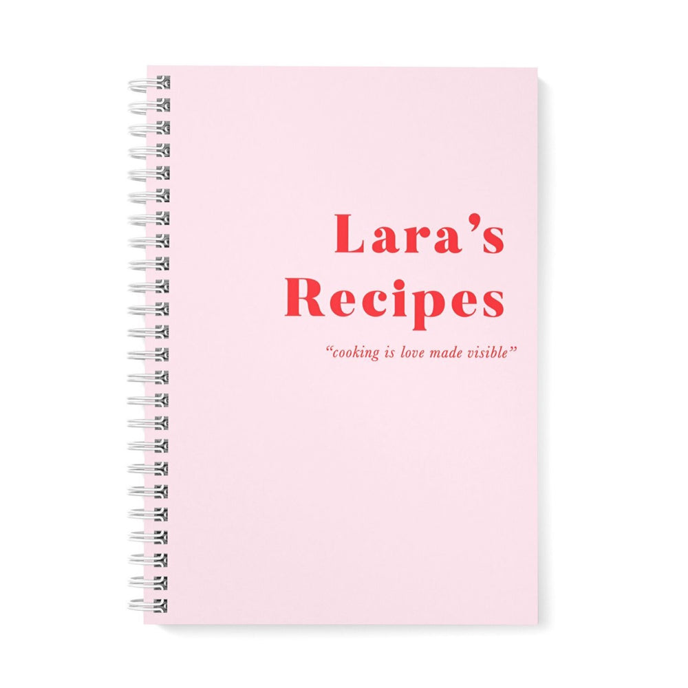 Recipe Book Personalised | Just Pink