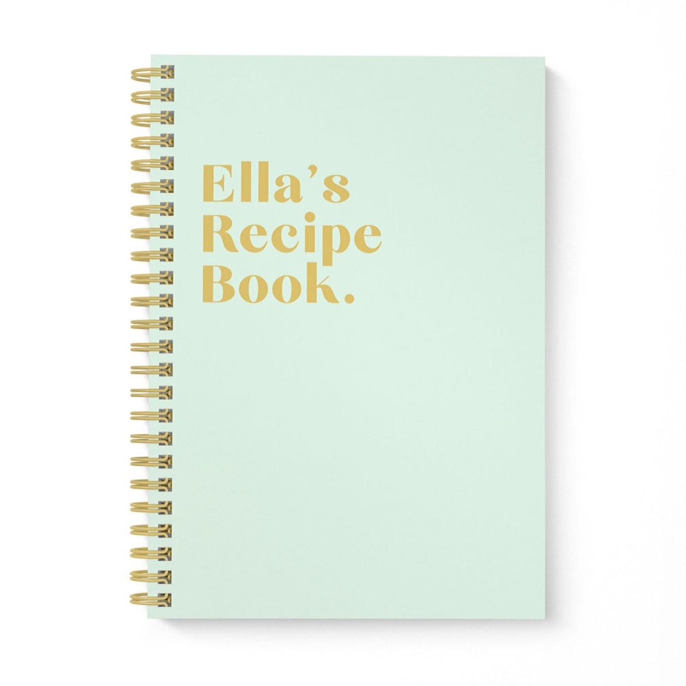 Blank Recipe Book Personalised | Pistachio