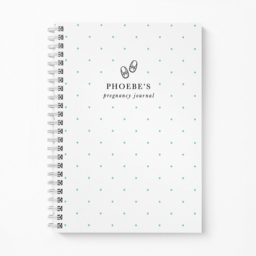 Pregnancy Notebook Personalised | Mint Spots