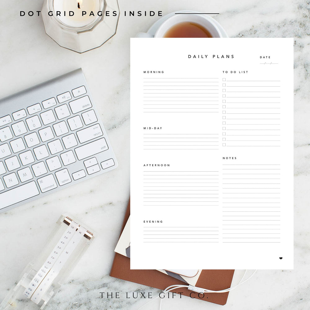 Work at Home Planner | Pink - The Luxe Gift Co.