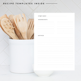 Blank Recipe Book Personalised | Sweet Little Hearts Blue - The Luxe Gift Co.
