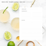 Blank Cocktail Recipe Book Personalised | Pink - The Luxe Gift Co.