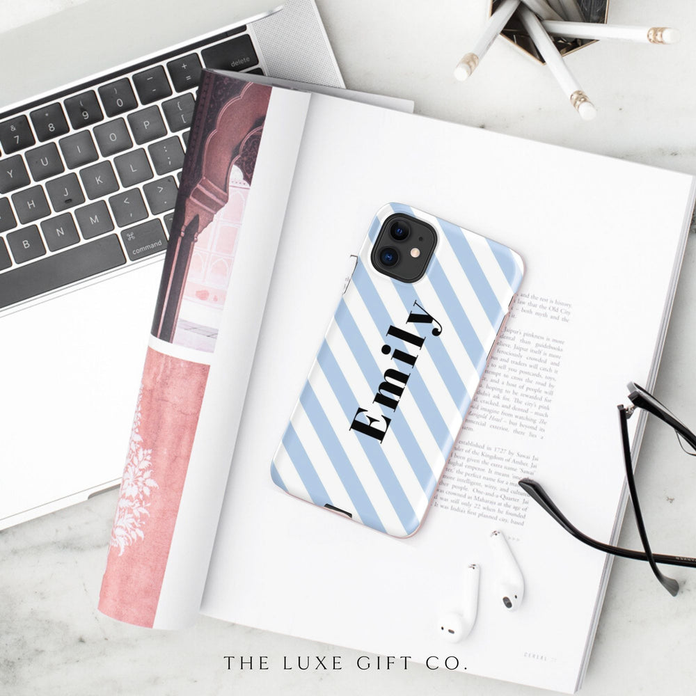 iPhone Case | Stripey Blue - The Luxe Gift Co.