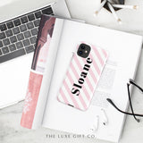 iPhone Case | Stripey Pink - The Luxe Gift Co.