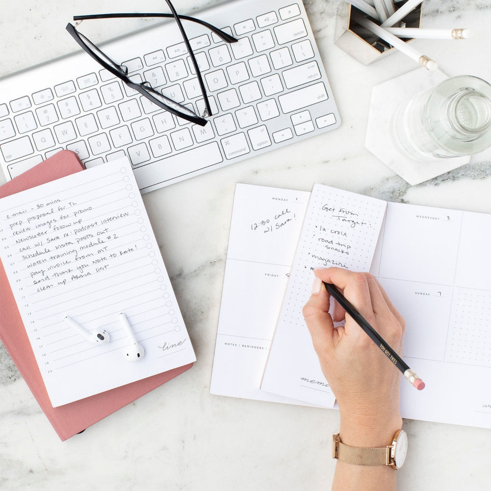 Personalised Weekly Planner | White - The Luxe Gift Co.