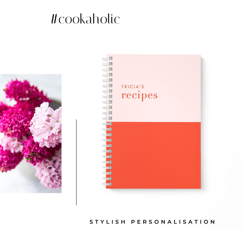Blank Recipe Book Personalised | Colour Block Pretty - The Luxe Gift Co.
