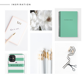 Personalised A5 notebook | My Idea in Tiffany - The Luxe Gift Co.