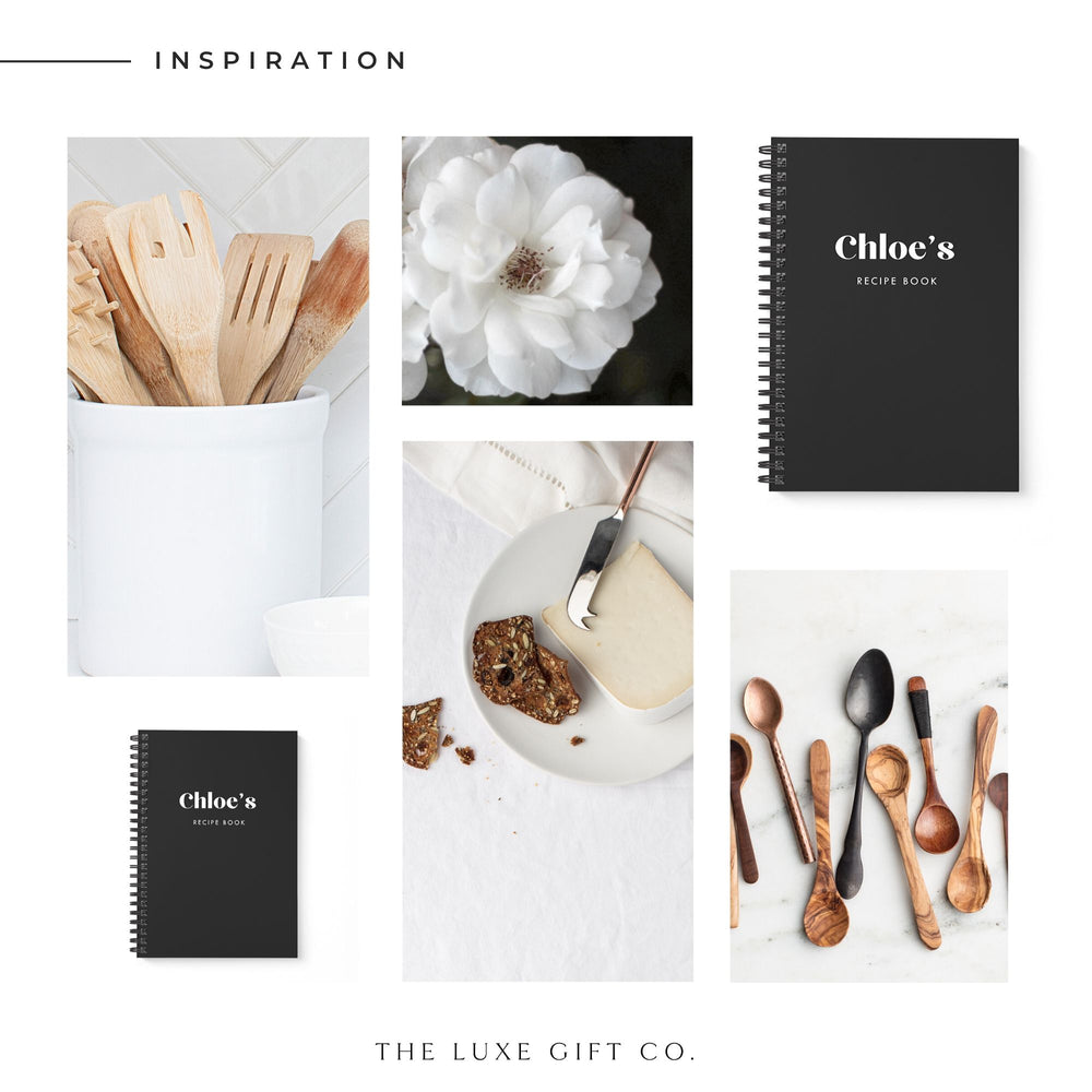 Blank Recipe Book Personalised | Be Bold Black - The Luxe Gift Co.