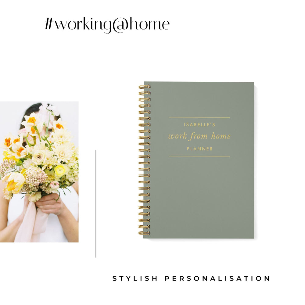 Work at Home Planner | Khaki - The Luxe Gift Co.