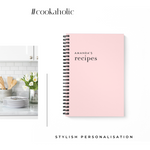 Blank Recipe Book Personalised | Classic Blush - The Luxe Gift Co.