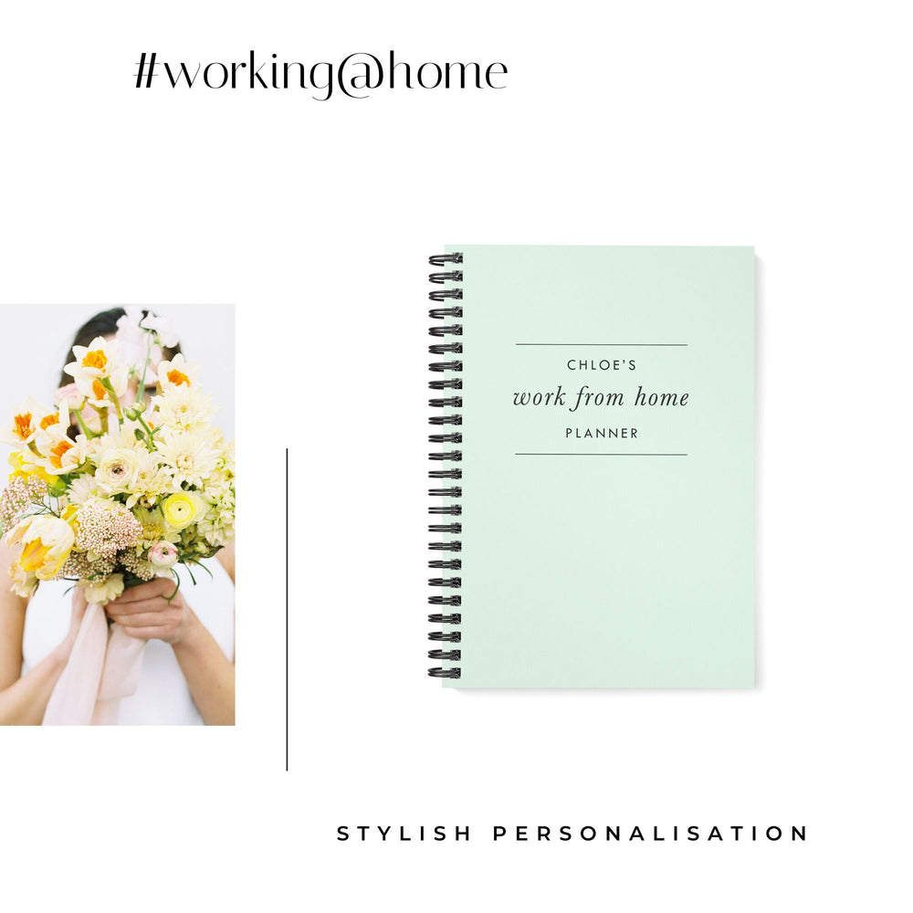Work at Home Planner | Mint Green - The Luxe Gift Co.