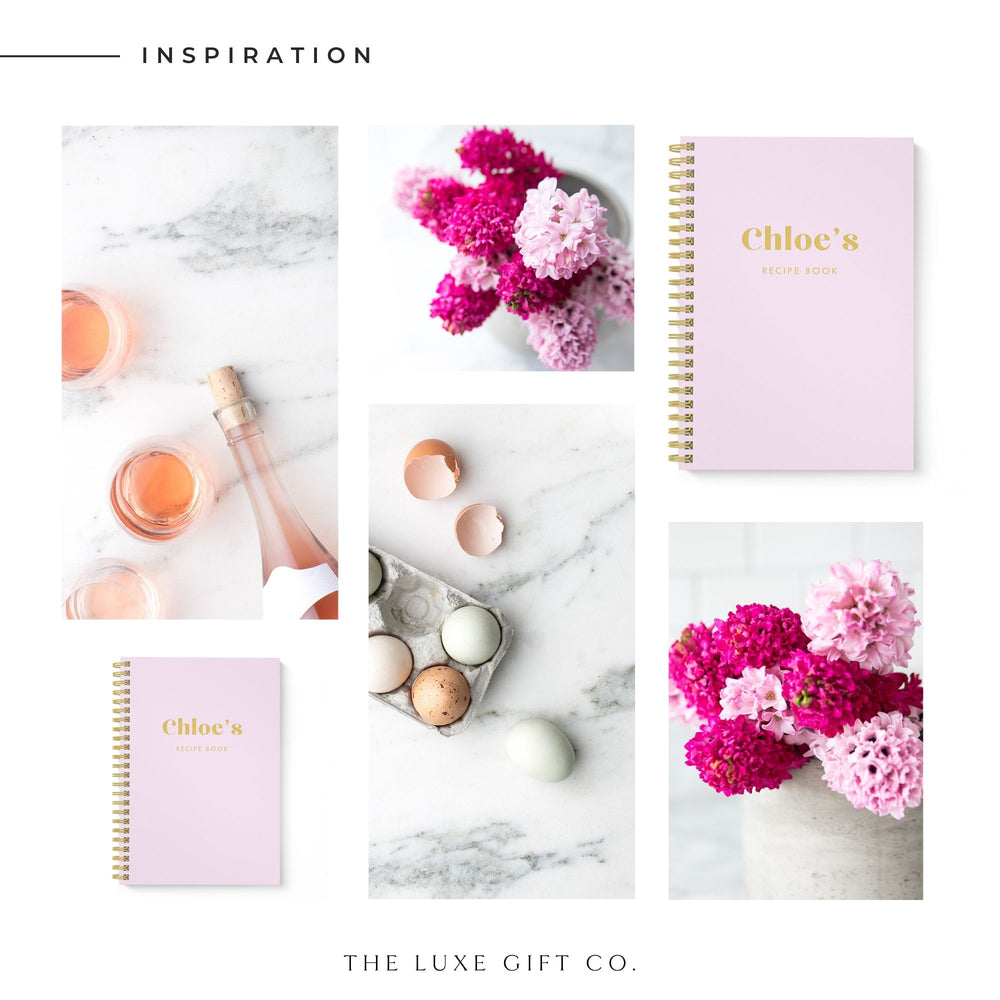 Blank Recipe Book Personalised | Be Bold Lilac - The Luxe Gift Co.