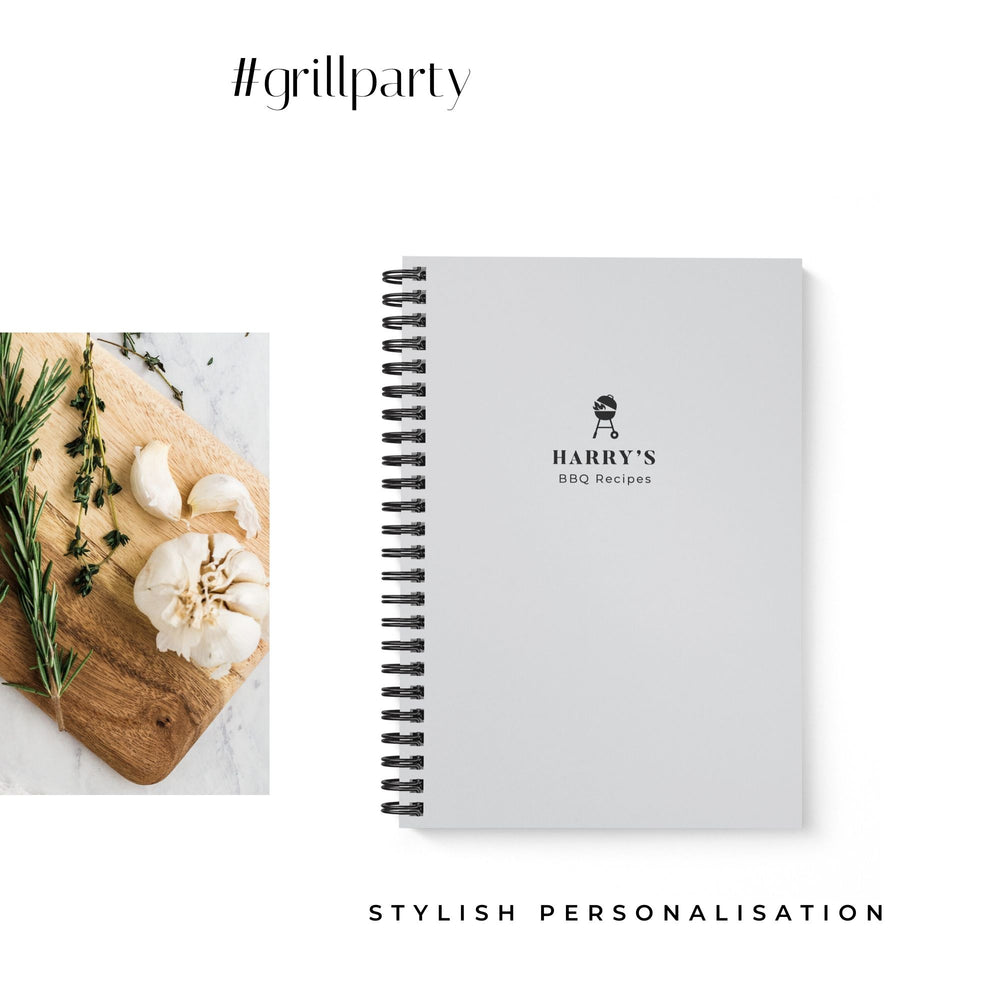 BBQ Recipe Book Personalised | Gray - The Luxe Gift Co.