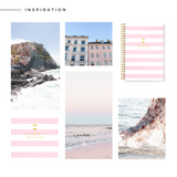 Personalised Travel Journal | Bikini Stripes in Pink - The Luxe Gift Co.