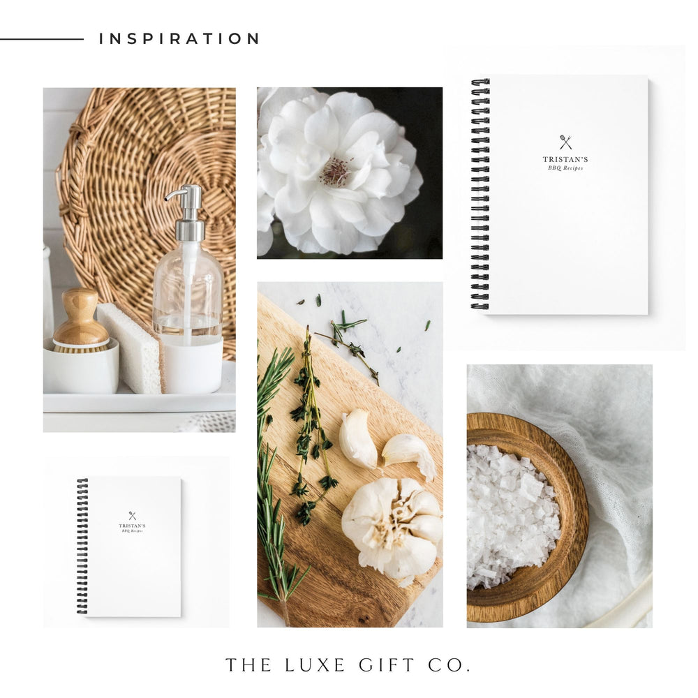 BBQ Recipe Book Personalised | White - The Luxe Gift Co.