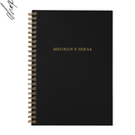 Personalised A5 notebook | My Idea in Black