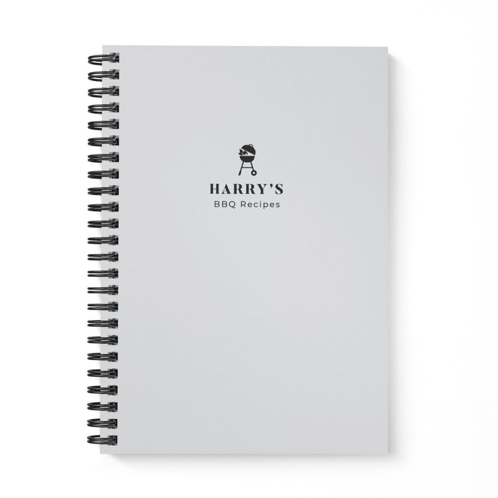 BBQ Recipe Book Personalised | Gray