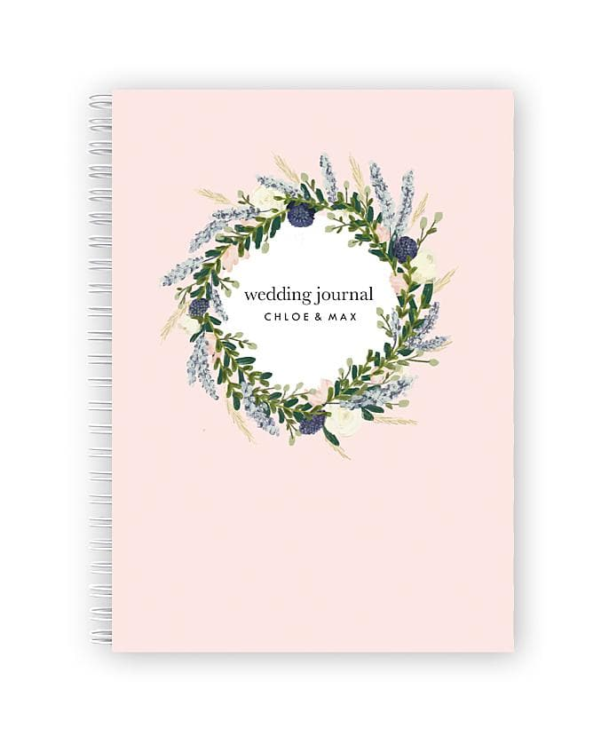 Personalised Wedding Planner Book | Bluebell Wreath