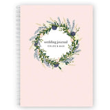 Personalised Wedding Planner Book | Bluebell Wreath - The Luxe Gift Co.