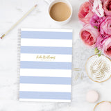 Personalised A5 notebook | Choose your own Stripes - The Luxe Gift Co.