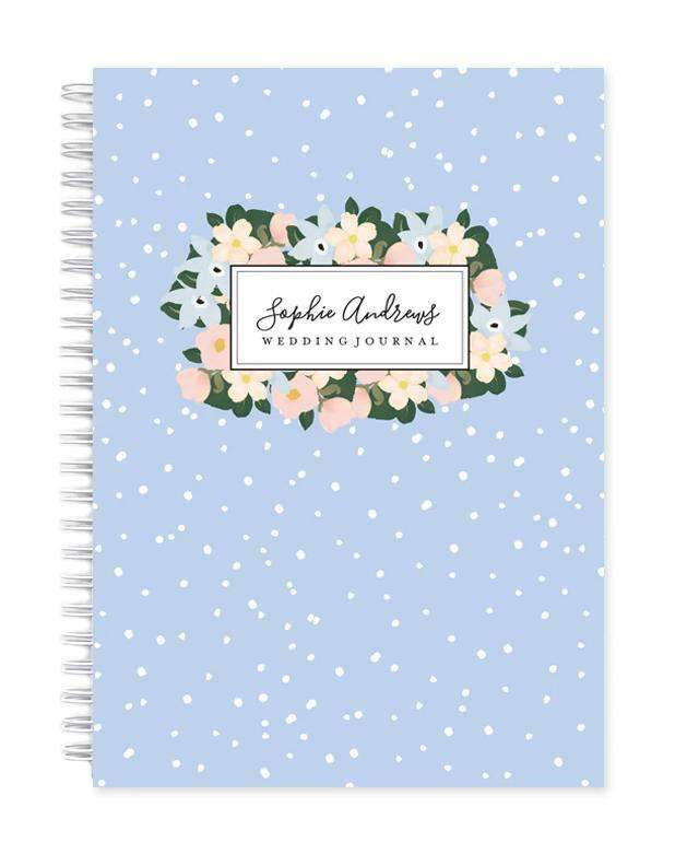 Personalised Wedding Planner Book | Chic Modern Floral in Bluebell