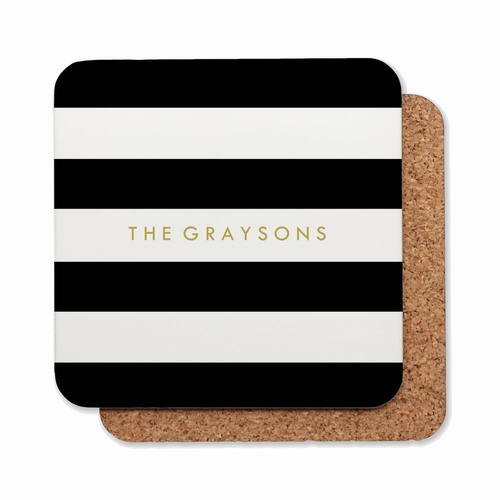 Drink Coasters Personalised | Classic Stripe