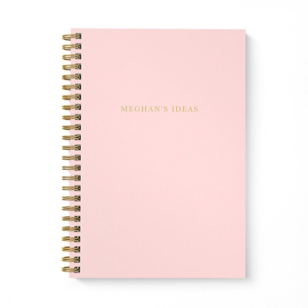 Personalised A5 notebook | My Idea in Blush