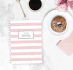 Daily Planner Notebook | Sweet Stripes - The Luxe Gift Co.