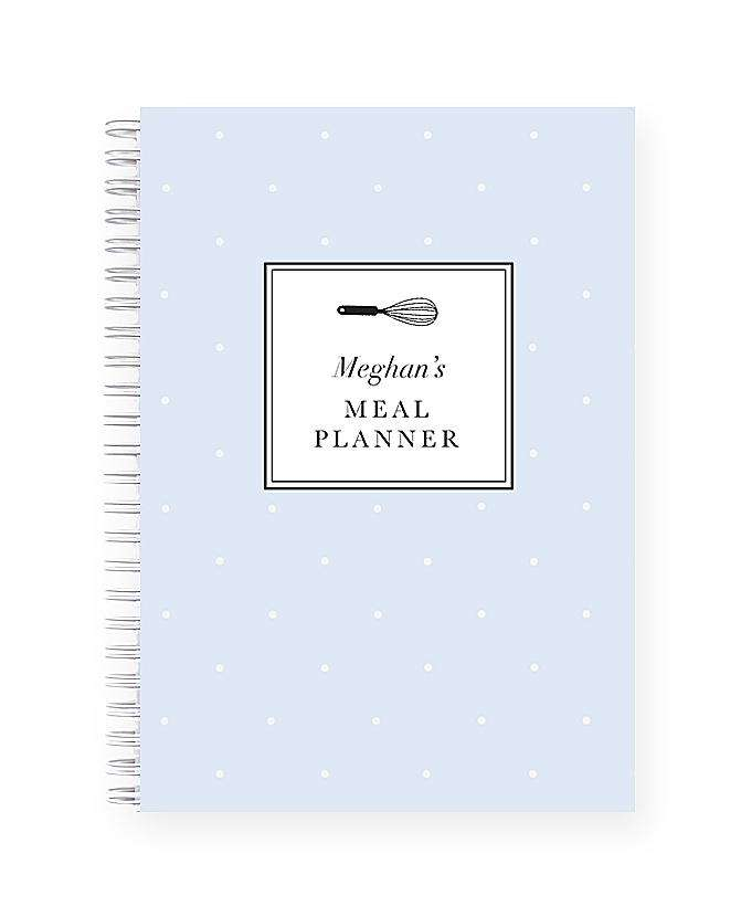 Personalised Meal Planner | Bluebell Polka Dot