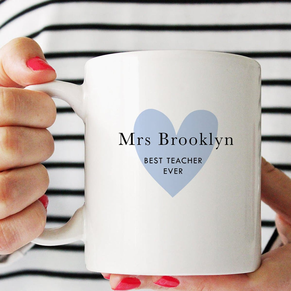 Personalised Mug | Teacher Love Blue - The Luxe Gift Co.